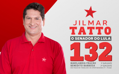 "Baixe o jingle oficial ""Jilmar Tatto é 132"""