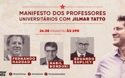 Na cidade de São Paulo estamos com o PT em defesa das Universidades e da Ciência
