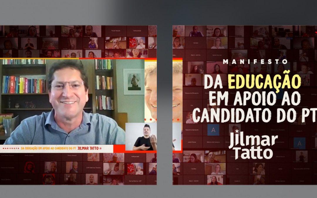 Manifesto da Educação celebra Paulo Freire, legado do PT e projeto de Tatto para o setor