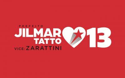 Baixe aqui o material de campanha de #JilmarTattoPrefeito, vereadore(a)s e as fotos oficiais de campanha