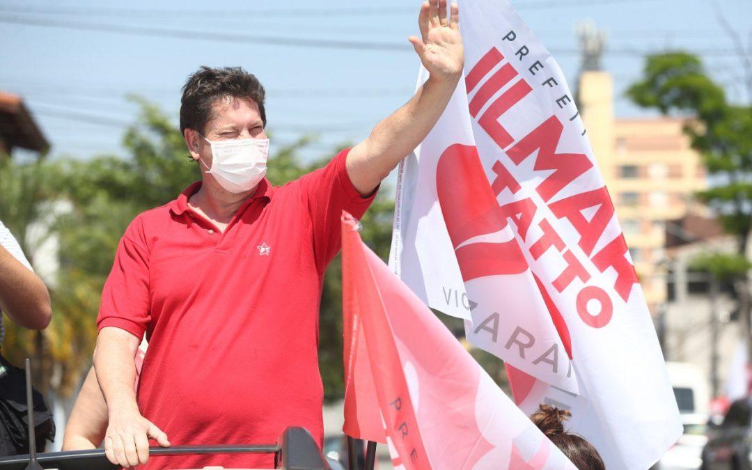 Leia os melhores momentos do primeiro discurso de campanha de #JilmarTattoPrefeito